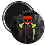 German Punk Skull Magnet