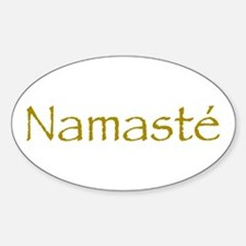 Simply Namaste Oval Decal
