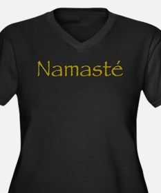 Simply Namaste Women's Plus Size V-Neck Dark T-Shi