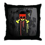 German Punk Skull Throw Pillow