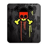 German Punk Skull Mousepad