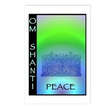 Om Shanti Means Peace Postcards (Package of 8)