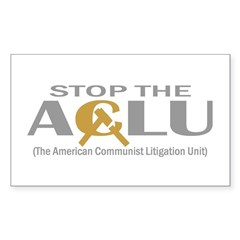 Anti-ACLU T-shirts, Apparel & Sticker (Rectangular