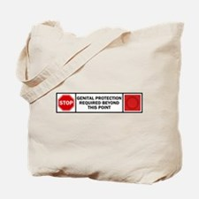 Genital Protection Tote Bag