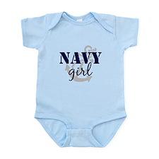 Navy Girl Infant Bodysuit