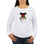 German Punk Skull Women's Long Sleeve T-Shirt
