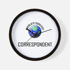 World's Coolest CORRESPONDENT Wall Clock