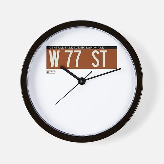 77th Street in NY Wall Clock