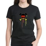 German Punk Skull Women's Dark T-Shirt