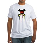 German Punk Skull Fitted T-Shirt