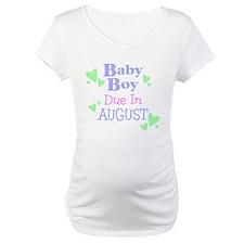Baby Boy Due In August Shirt