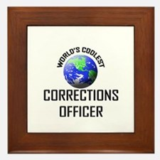 World's Coolest CORRECTIONS OFFICER Framed Tile