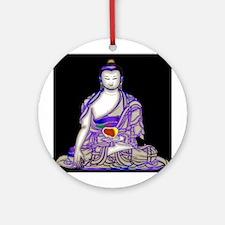 Buddha in Meditation Ornament (Round)