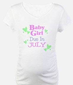 Baby Girl Due In July Shirt