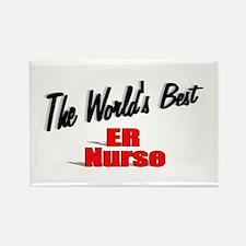 """The World's Best ER Nurse"" Rectangle Magnet"