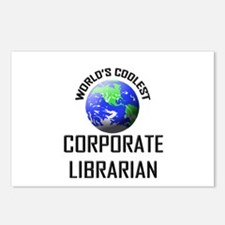 World's Coolest CORPORATE LIBRARIAN Postcards (Pac