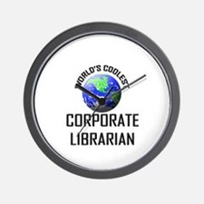 World's Coolest CORPORATE LIBRARIAN Wall Clock