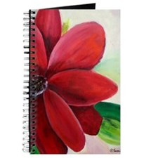 Bright, Bold Red Flower Journal