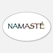 Namaste Oval Decal