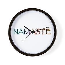 Namaste Wall Clock