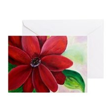 Bright, Bold Red Flower Greeting Cards (Package of