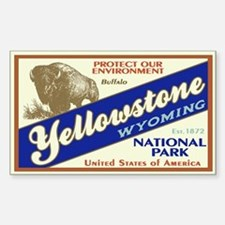 Yellowstone (Buffalo) Rectangle Decal