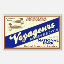 Voyageurs (Loons) Rectangle Decal