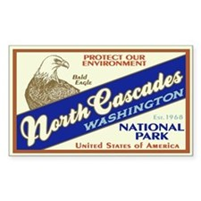 North Cascades (Eagle) Rectangle Decal