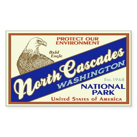 North Cascades (Eagle) Rectangle Sticker