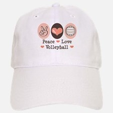 Peace Love Volleyball Baseball Baseball Cap