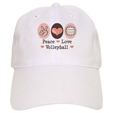 Peace Love Volleyball Baseball Cap