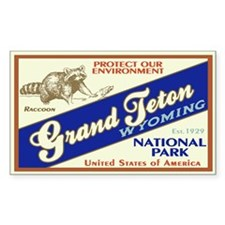 Grand Teton (Raccoon) Rectangle Decal