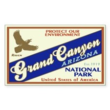 Grand Canyon (Raven) Rectangle Decal