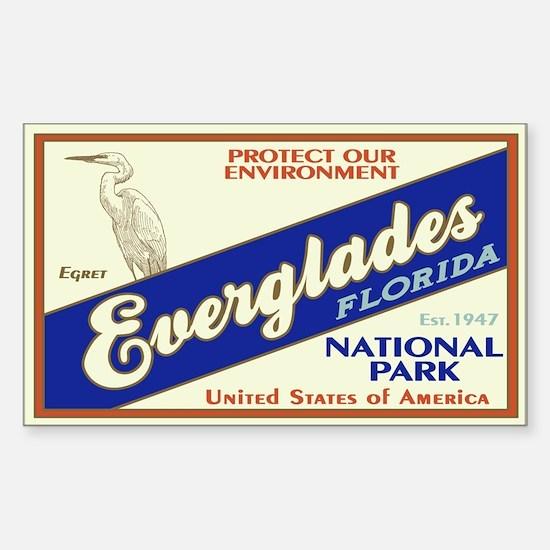 Everglades (Egret) Rectangle Decal