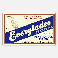 Everglades (Egret) Rectangle Stickers
