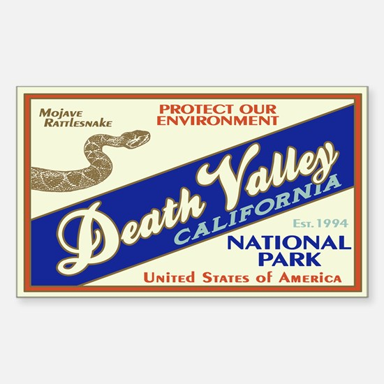Death Valley (Rattlesnake) Rectangle Decal