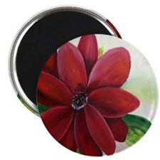 Bright, Bold Red Flower Magnet