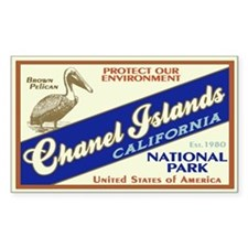 Channel Islands (Pelican) Rectangle Decal