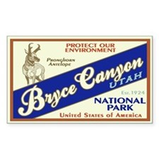 Bryce Canyon (Antelope) Rectangle Decal
