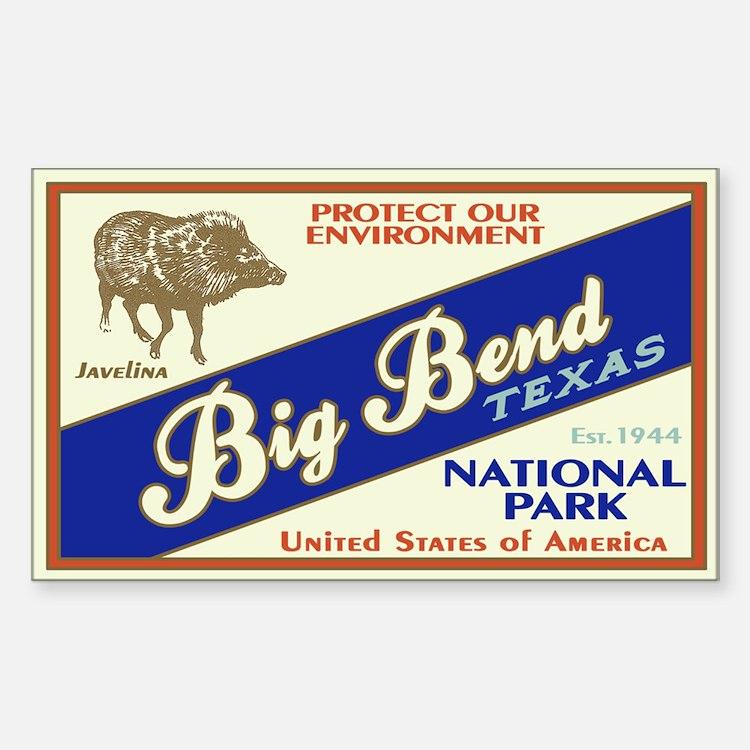 Big Bend (Javelina) Rectangle Decal