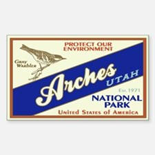 Arches (Warbler) Rectangle Decal