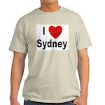I Love Sydney (Front) Ash Grey T-Shirt