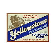 Yellowstone (Buffalo) Rectangle Magnet