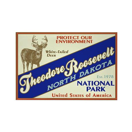 Theodore Roosevelt (Deer) Rectangle Magnet