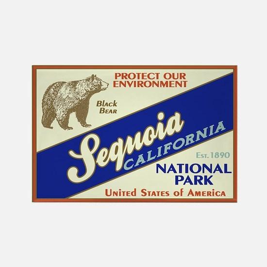 Sequoia (Black Bear) Rectangle Magnet