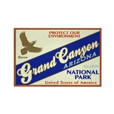 Grand Canyon (Raven) Rectangle Magnet