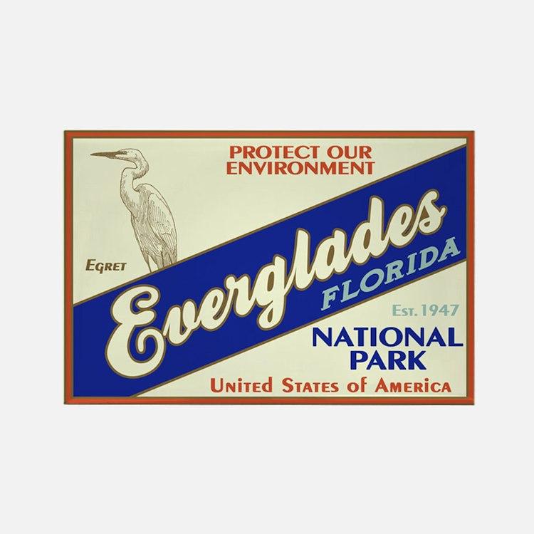 Everglades (Egret) Rectangle Magnet