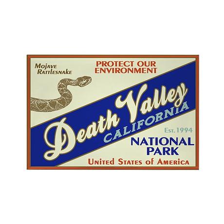 Death Valley (Rattlesnake) Rectangle Magnet