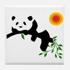 Resting panda bear! Tile Coaster