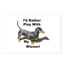 Play With My Wiener Postcards (Package of 8)